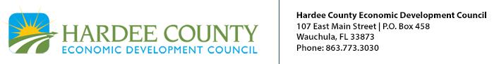Hardee County Economic Development Council | 107 East Main Street | P.O. Box 458 | Wauchula, Fl 33873 | 863-773-3030 | info@hardeemail.com