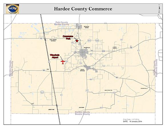 Hardee County Commerce map