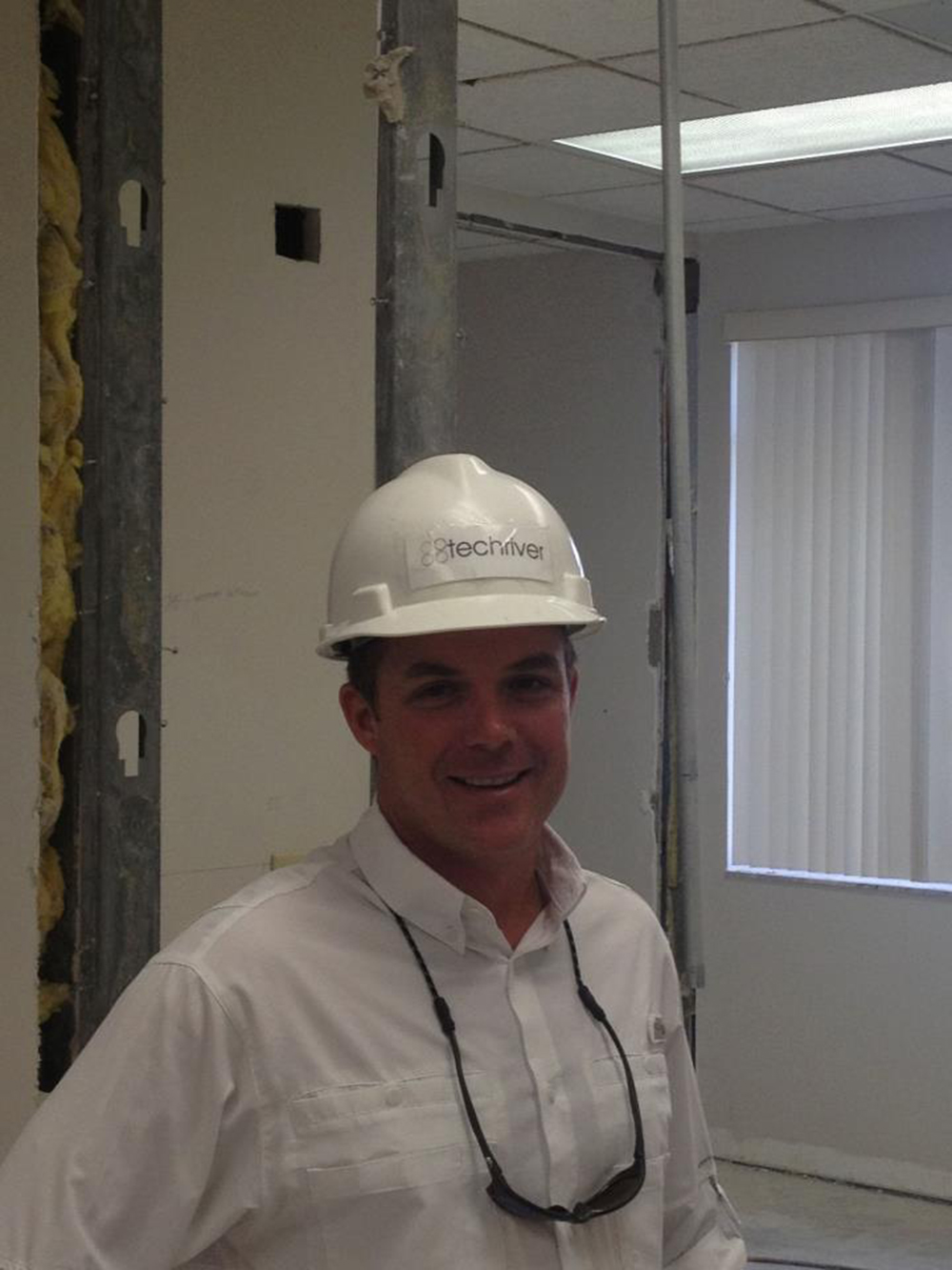 TechRiver employee in a hardhat
