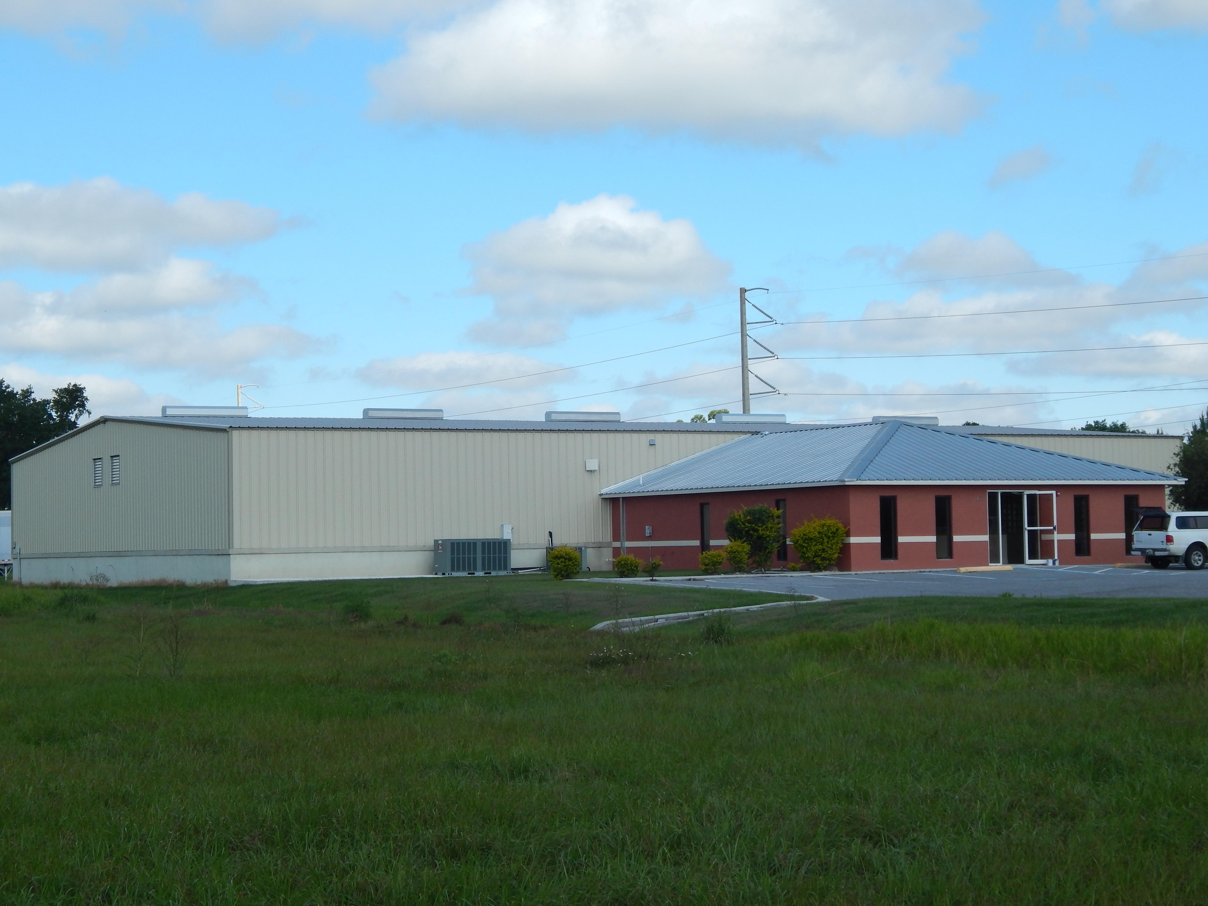 Exterior photo of Organics South building