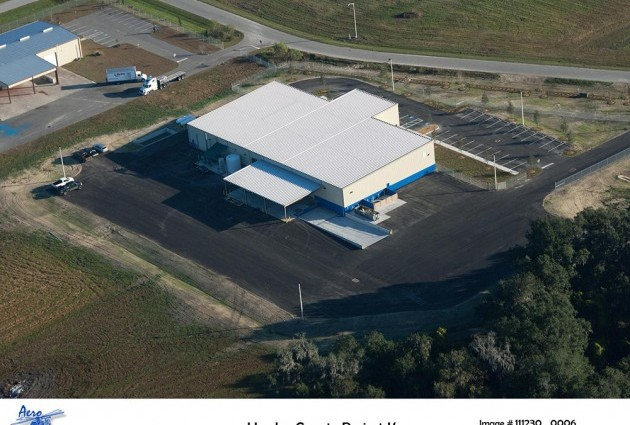 Aerial photo of KeyPlex building in Hardee County Commerce Park